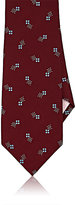 Fairfax Men's Dot-Pattern Silk Satin Necktie-RED