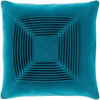 Overstock Quadratum Velvet Teal Feather Down Fill Throw Pillow 20-inch