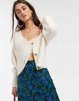 Only knitted cardigan in cream