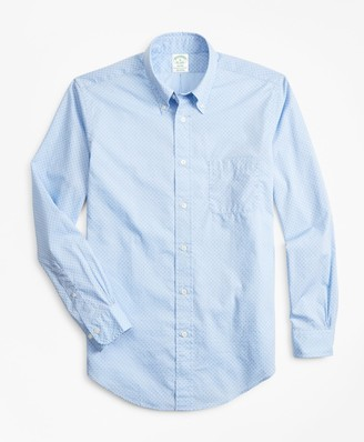 Brooks Brothers Milano Fit Micro-Floral Print Sport Shirt