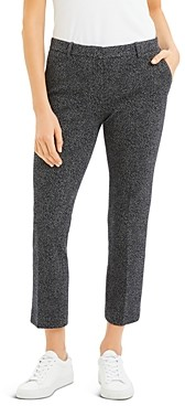 Theory Speckled Knit Cropped Tailored Pants