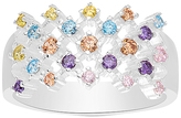 Bliss Multicolor Cubic Zirconia & Sterling Silver Openwork Ring