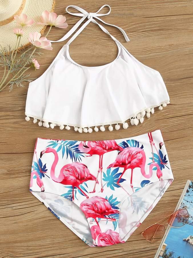 3e99ad047a Flamingo Print Swimsuit - ShopStyle