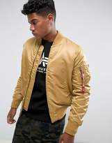 Alpha Industries Ma-1 Vf59 Insulated Bomber Jacket Slim Fit In Gold