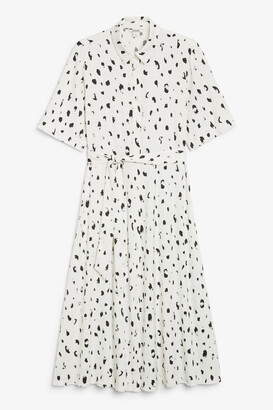 Monki Belted button-up shirt dress