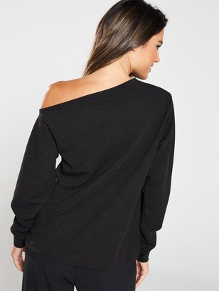Very Slouch Co-Ord Top - Black