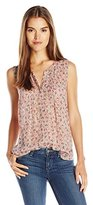 Lucky Brand Women's Ditsy Paisley Top