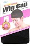 Dream Wig Cap, Extra Jumbo Wig Cap #060 Black (pack of 12)