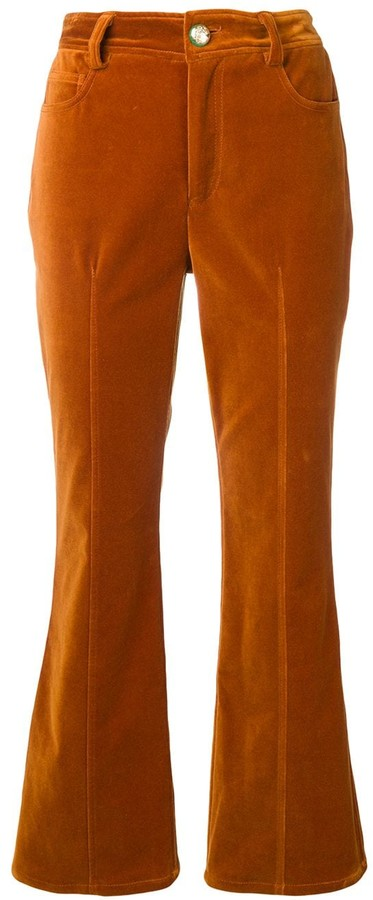 Derek Lam 10 Crosby velveteen flared trousers