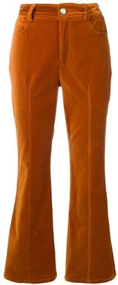 Derek Lam 10 Crosby Velveteen Flared Trousers