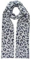 Maison Scotch Leopard Knitted Scarf