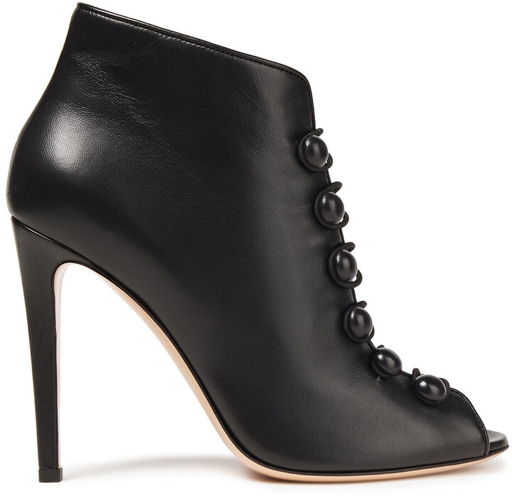 Gianvito Rossi Imperia Lace-up Leather Ankle Boots