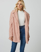 Le Château Sherpa Notch Collar Teddy Jacket
