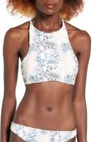 Roxy Women's Snake Print Racerback Bikini Top