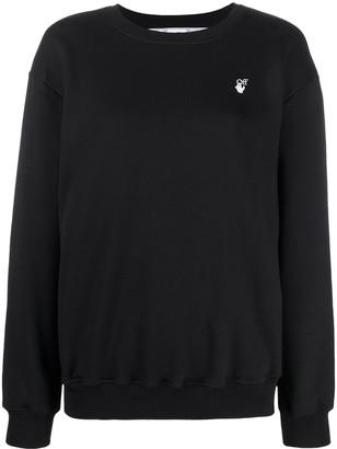 Off-White flock Arrows logo sweatshirt