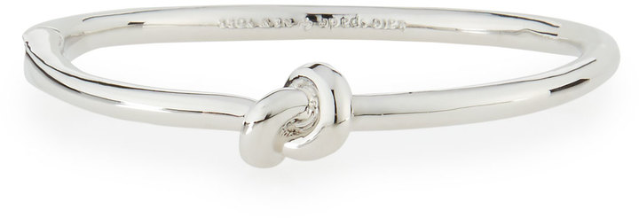 Kate Spade Sailor's Knot Hinged Bangle Bracelet, Silvertone