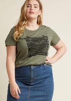 ModCloth On the Write Track T-Shirt in 3X