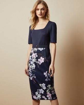 Ted Baker Pergola Printed Bodycon Dress
