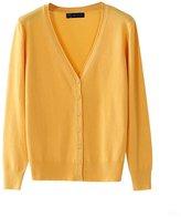MMJULY Z&L Women's Casual Button Down V Neck Basic Knit Cardigan Sweater XXL