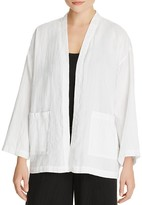 Eileen Fisher Petites Boxy Open Front Jacket