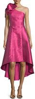 Sachin + Babi One-Shoulder Bow-Detail High-Low Midi Dress