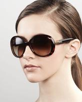 Gucci Round Frame Sunglasses, Brown
