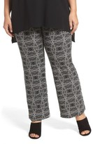 Vince Camuto Plus Size Women's Graphic Print Pull-On Pants