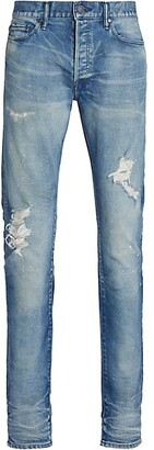 John Elliott The Cast 2 Distressed Slim Jeans