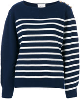 3.1 Phillip Lim striped knitted sweater - women - Silk/Polyamide/Spandex/Elastane/Merino - XS