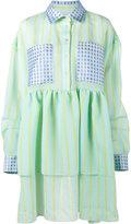 Natasha Zinko Stripe Floral Jacquard Dress - women - Polyamide/Polyester - 40