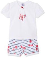 Petit Bateau Baby girls print short pyjamas