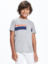 Old Navy Chest-Stripe Pocket Tee for Boys