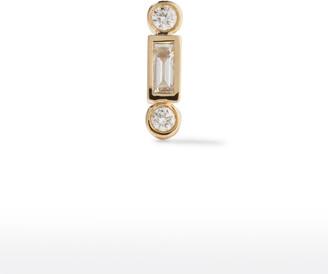 Sydney Evan 14k Diamond Baguette and Round Stud Earring, Single
