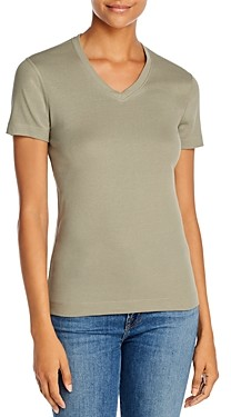 Three Dots Cotton V-Neck Tee
