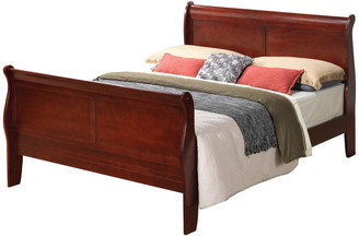 Glory Furniture Mankas Bed, Cherry, Queen