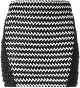 Zoe Karssen braided mini skirt - women - Polyester/Spandex/Elastane - S