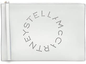 Stella McCartney Zipped Clutch With Perforated Logo