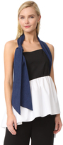 Isa Arfen Colorblock Knot Halter Top