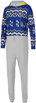 Unbranded Men's Concepts Sport Royal Golden State Warriors Ugly Sweater Fleece Hoodie Union Suit