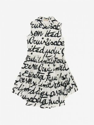 Elisabetta Franchi Cotton Dress With All Over Logo