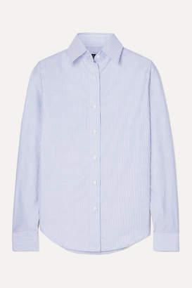 Emma Willis Striped Cotton Oxford Shirt - Navy