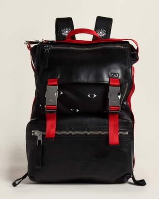 Kenzo Eye Print Leather Backpack