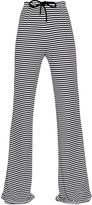Max Mara Wide Leg Striped Viscose Jersey Pants