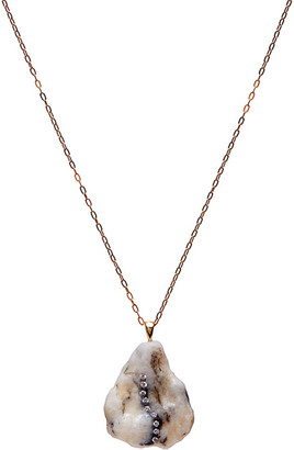 "Cvc Stones 18k Gold Pentagon Lux Necklace - One of a Kind, 18"""