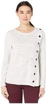 Nic+Zoe Petite Sign Me Up Sweater (Moondust Heather) Women's Clothing