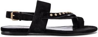 Saint Laurent Gia Stud Sandals in Black | FWRD