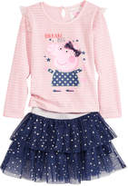 Peppa Pig Nickelodeon's T-Shirt & Scooter Skirt Set, Toddler Girls