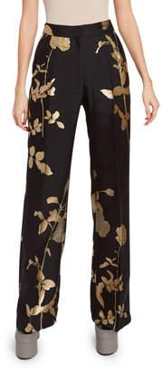 Dries Van Noten Floral Straight-Leg Pants