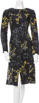 Marni Wool Floral Print Dress