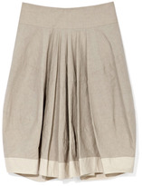 Donna Karan Full Skirt With Yoke And Contrast Hem Band